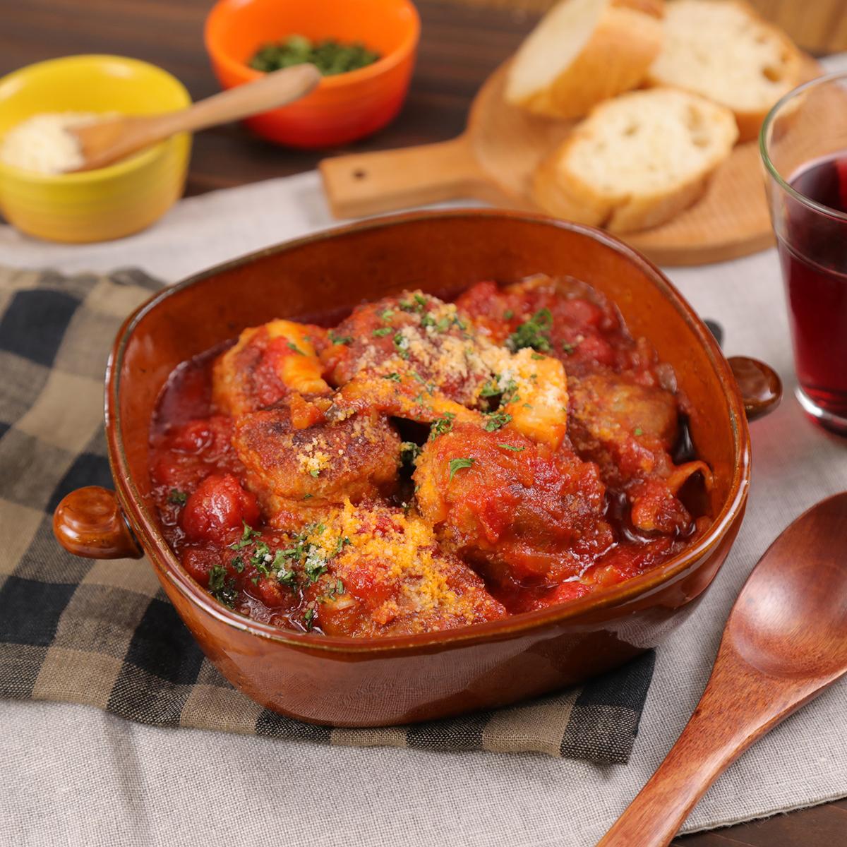 ふんわり肉団子のトマト煮♡